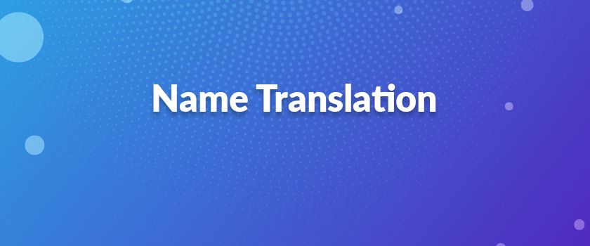 Name-Translation