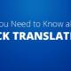 About Back Translation